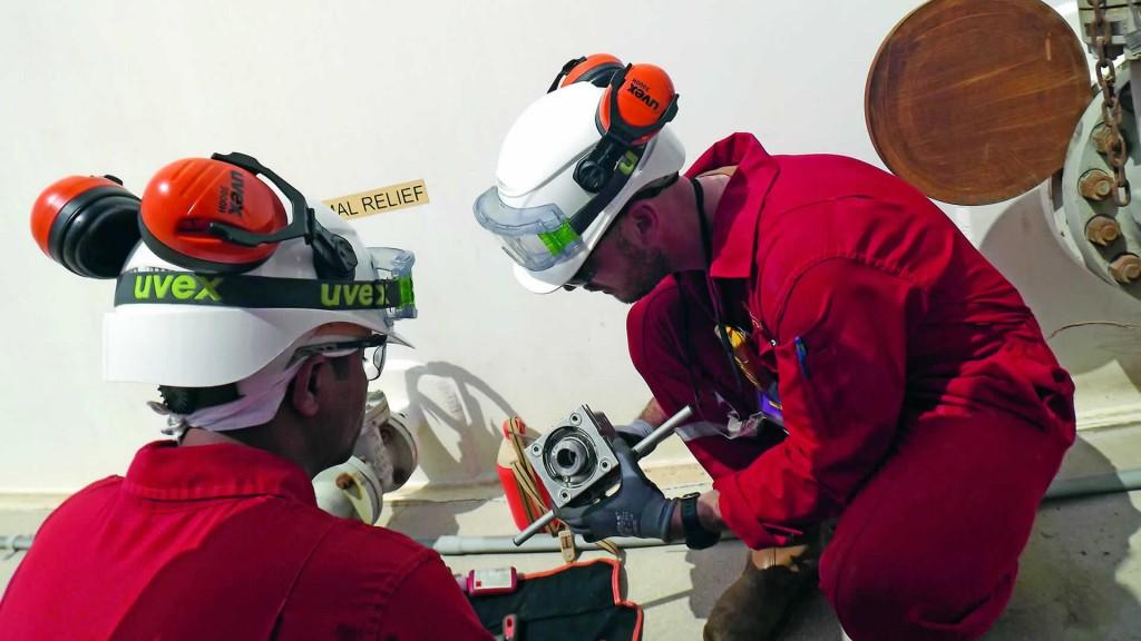 Valve interlocks are installed on valves by service engineers