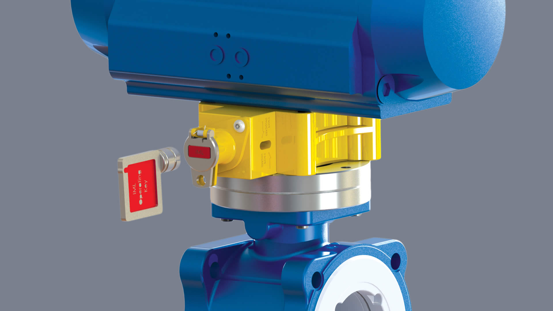 Actuator lock for safe valve maintenance