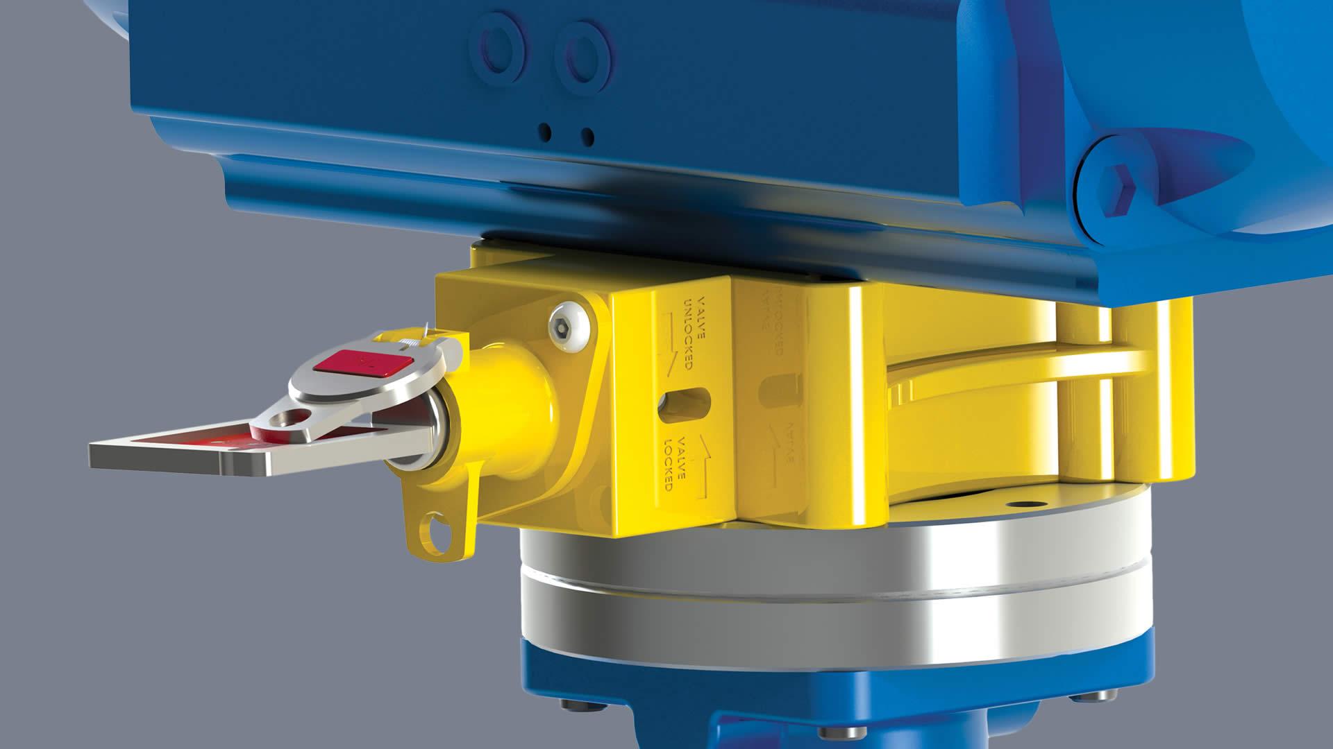 Intermediate valve actuator lock