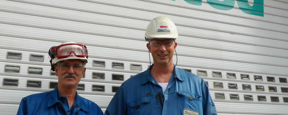 Operators at Shin-Etsu Rotterdam use valve interlocks