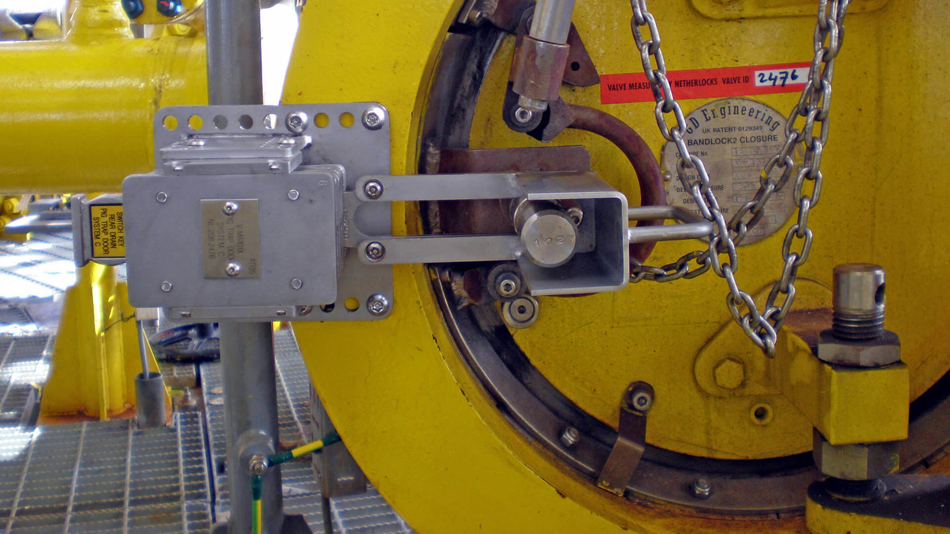 Closure lock voor securing safe pigging operations