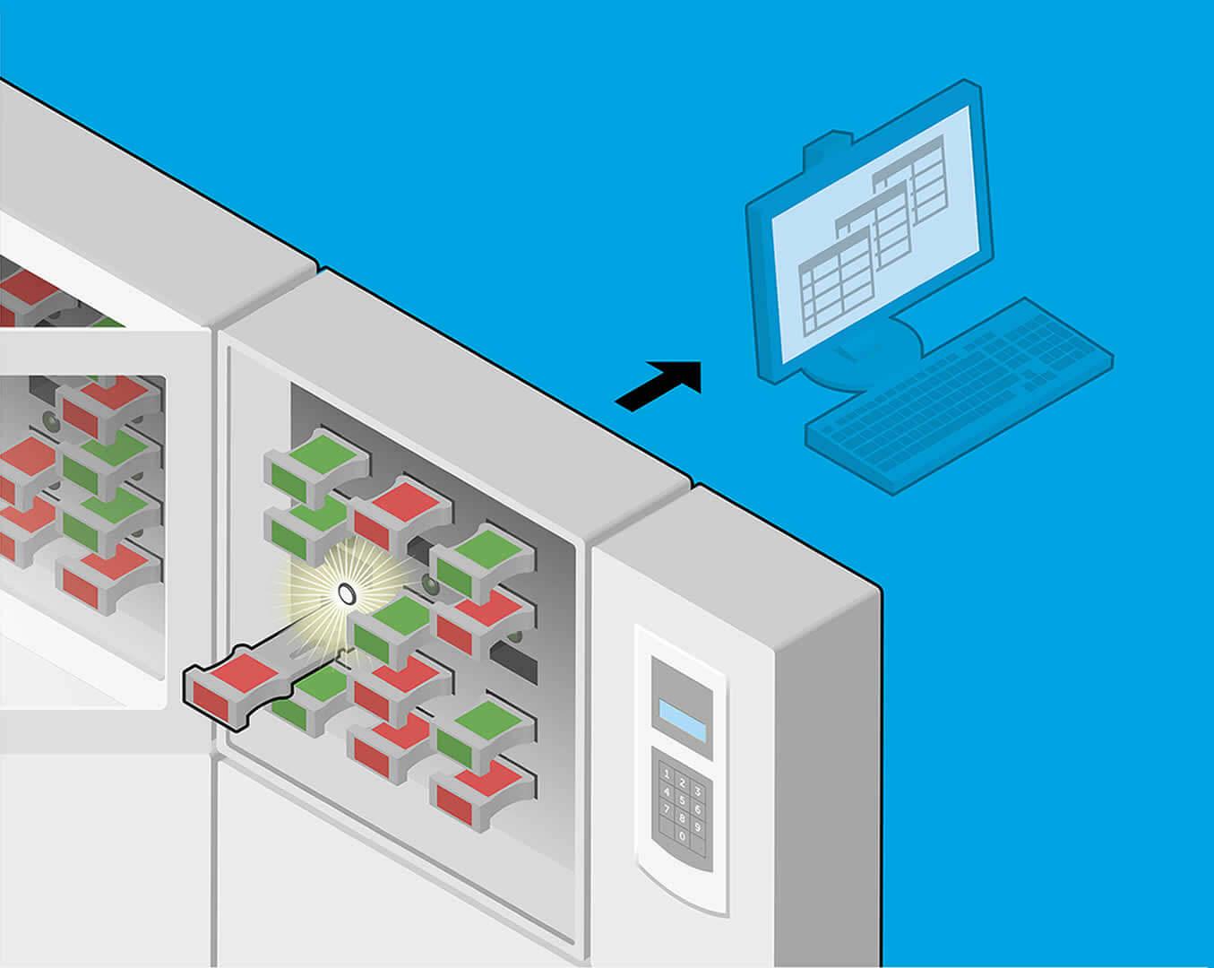 Information collect system for valve interlock keys