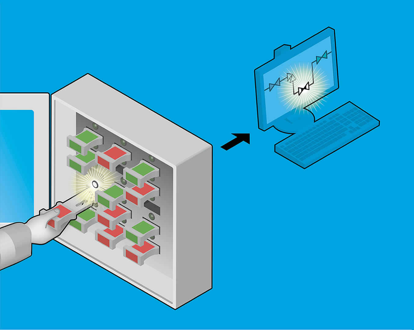 Key detect system for valve interlocks