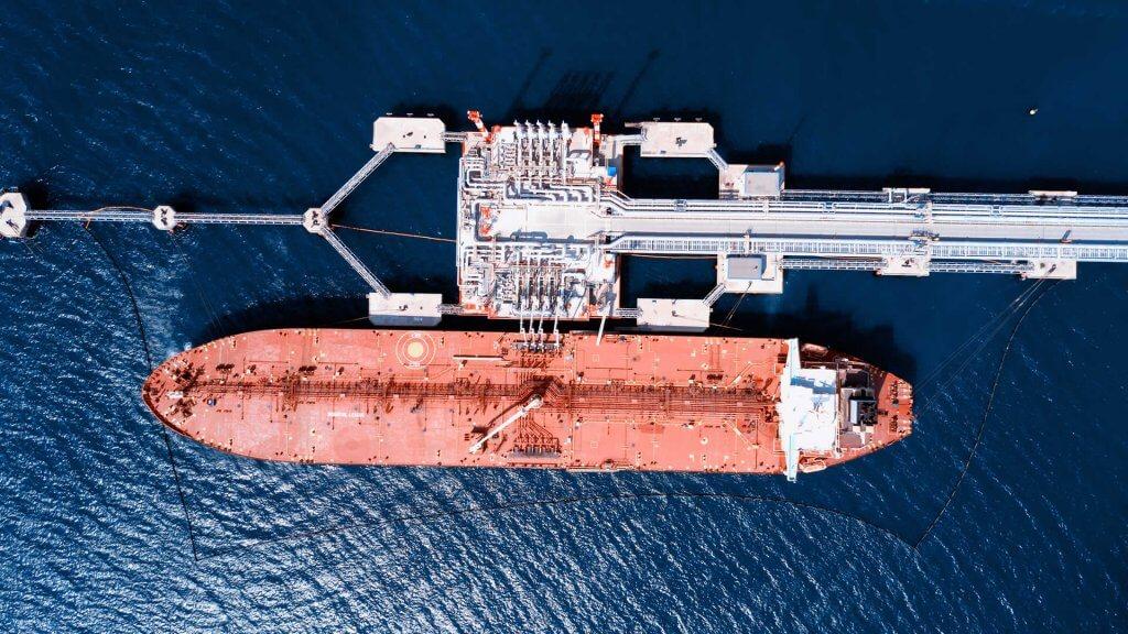 Tanker being loaded