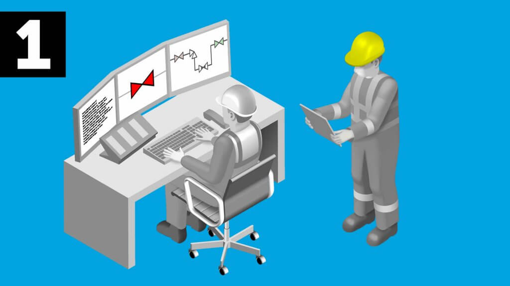 Valve position indicator for valve line-ups